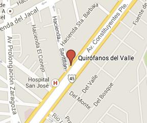 Vias de acceso a Quirófanos del Valle